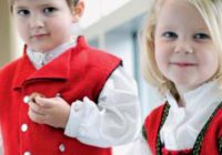 Hardanger festdrakt til jente og gutt